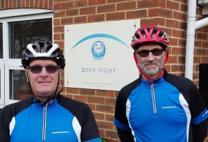 Pete and Lee in front of Open Sight Head Office